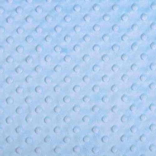 Plush Fabric Dotted Dimple Minky Baby Blue - buy from Cuddle Plush Fabrics