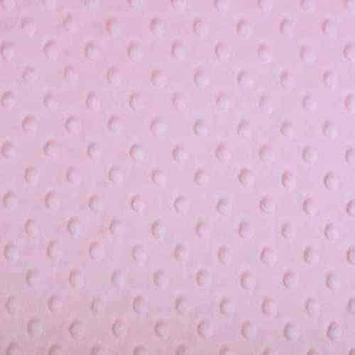 Plush Fabric Dotted Dimple Minky Baby Pink - buy from Cuddle Plush Fabrics