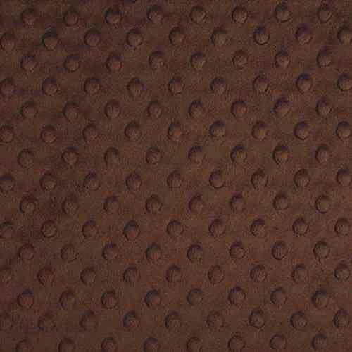 Plush Fabric Dotted Dimple Minky Brown - buy from Cuddle Plush Fabrics