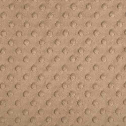 Plush Fabric Dotted Dimple Minky Camel - buy from Cuddle Plush Fabrics