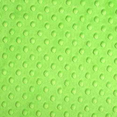 Plush Fabric Dotted Dimple Minky Dark Lime - buy from Cuddle Plush Fabrics