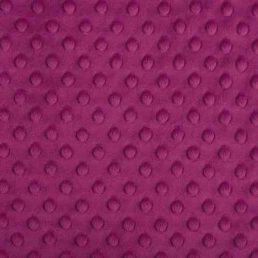 Plush Fabric Dotted Dimple Minky Raspberry - buy from Cuddle Plush Fabrics