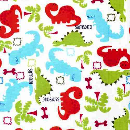 Colourful dinosaurs cotton fabric cuddle plush fabrics for Dinosaur fabric