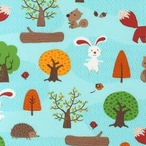 Forest Lake Fabric Home: Robert Kaufman Forest Playground Lake Cotton Fabric