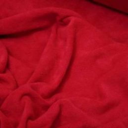 Red microfleece
