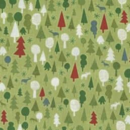 Graphic-Christmas-Forest-Green_Andover-Makower-Christmas_Cotton-fabric
