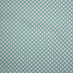 Beau Fab 2 mil PUL Aqua Polka Dot