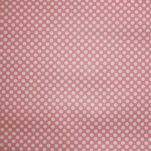 Beau Fab 2 mil PUL Pink Polka Dot