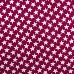 Burgundy stars microfleece