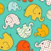 Prosoft PUL Elephant Toss Vivid