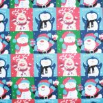 Christmas Happy Holidays PolyCotton
