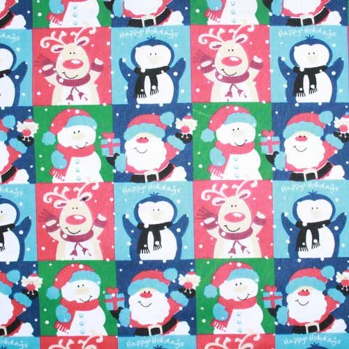 Christmas Happy Holidays PolyCotton