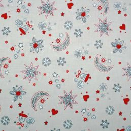 Christmas Moons and Stars Cotton