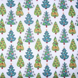 Christmas Trees PolyCotton