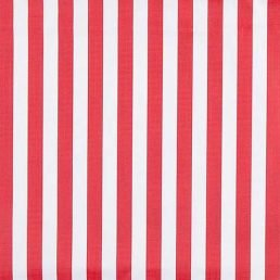 Red and White Stripe Ripstop Fabric