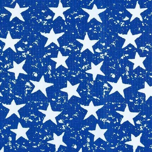 Stars On Blue Ripstop Fabric Ripstop