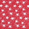 Stars on Red Ripstop Fabric