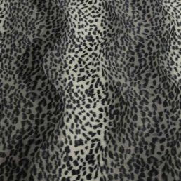 Grey Cheetah Print Velboa