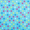 Blue Spots Ripstop Fabric
