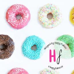Donuts Cotton Jersey Fabric