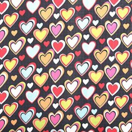 Hearts Ripstop Fabric