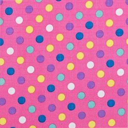 Pink Spots Ripstop Fabric