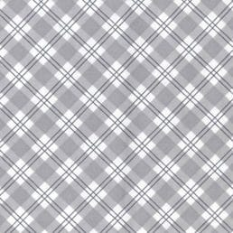 Cotton Flannel (Wynciette) Grey Check