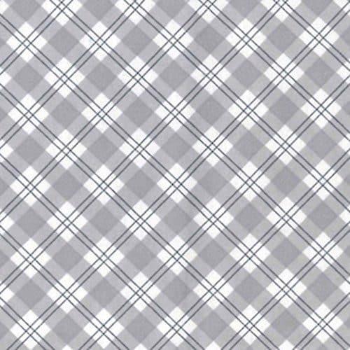 Cotton Flannel (Wynciette) Grey Check