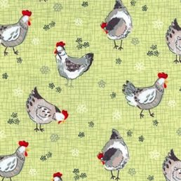Chickens Cotton Fabric