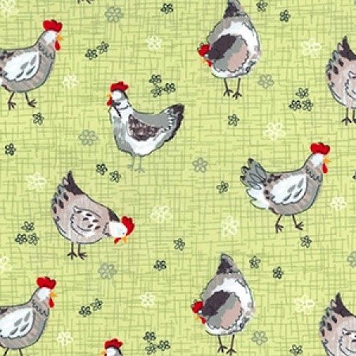 Chickens Cotton Fabric
