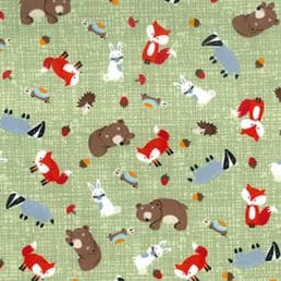 Forest Critters Cotton Fabric