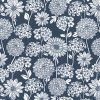Steel Flowers Cotton Fabric