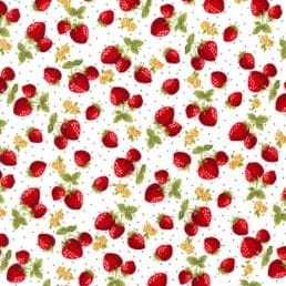 Strawberry Patch Cotton Fabric