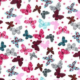 Vivid Butterflies Cotton Fabric