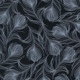 Whisp Black Cotton Fabric