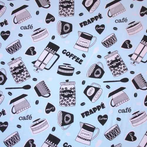 Barista Blue Cotton Fabric