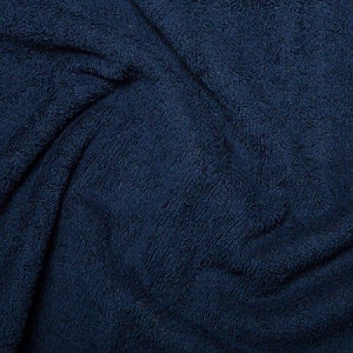 Navy Cotton Terry Towelling