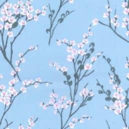 Blossom Blue Cotton Fabric