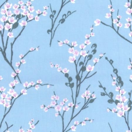 Blossom Blue Cotton Fabric