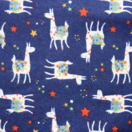 Cotton Flannel (Wynciette) Llama Navy