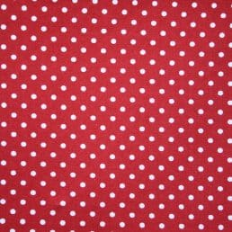 Red Dobby Spot Cotton Fabric