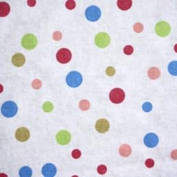 Cotton Flannel (Wynciette) Multi Dots