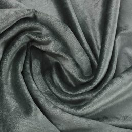 Steel Grey Bamboo Velour Fabric 280GSM