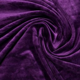 Violet Bamboo Velour Fabric 280GSM