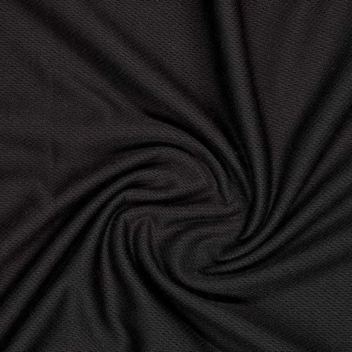 ProCool® Athletic Jersey Mesh Fabric with Coolmax® Black