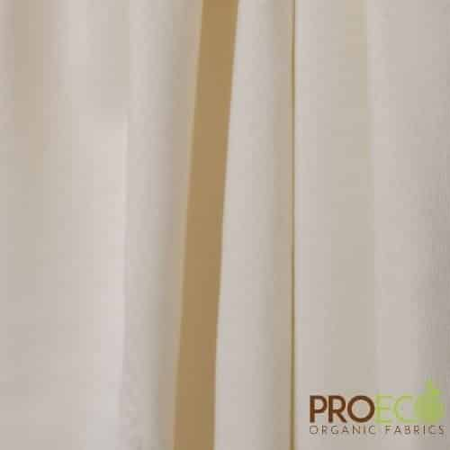 ProEco® Stretch-FIT Organic Cotton Jersey Lite Fabric Natural