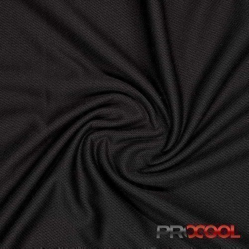 ProCool® Athletic Jersey Mesh Black - By the Roll