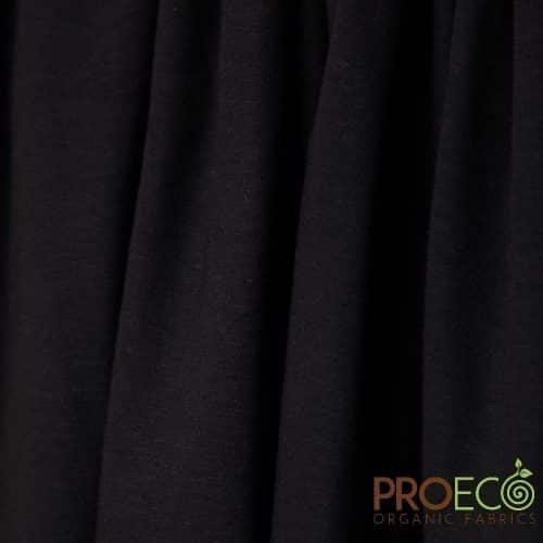 ProECO® Stretch-FIT Organic Cotton Jersey LITE Fabric Black - By the Roll