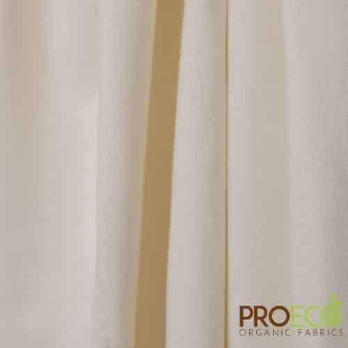 ProECO® Stretch-FIT Organic Cotton Jersey LITE Fabric Natural - By the Roll