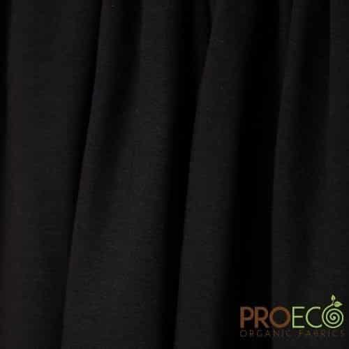 ProEco® Stretch-FIT Organic Cotton Jersey Lite Fabric Black